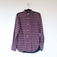 EYE JUNYA WATANABE comme des garcons man flannel corduroy blue red shirt XS