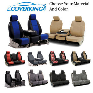 Coverking Custom Front and Second Row Seat Covers For Chevrolet Truck SUVs