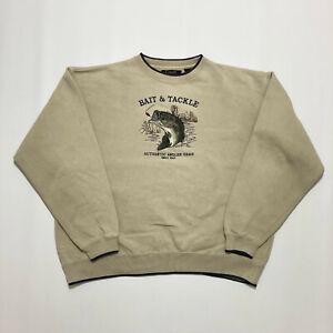 Vintage Croft & Barrow Sport Mens 90's Embroidered Sweatshirt Size L Angler Wear