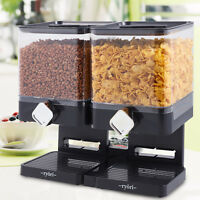 SQUARE CEREAL DISPENSER DRY FOOD STORAGE CONTAINER MACHINE PASTA DOUBLE SINGLE
