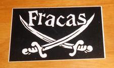 Fracas Sticker Original Promo (rectangle) 4.5x3 (swords) Punk Rare