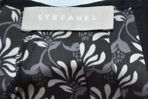 ♥ Stefanel ♥ Bluse ♥ Gr. 42 ♥ schwarz ♥ Plissee ♥ floral ♥