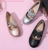 Kinderschuhe Mädchen Schmetterling Flach Schuhe Ballerinas Hochzeit festliche