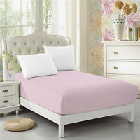 CC&DD Fitted Sheet Microfiber Luxury Super Silky Soft Deep Pockets Baby-pink