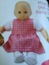 """Kwik Sew Sewing Patterns 3834 16"""" 40cm Baby Doll Clothes Romper Dress New"""