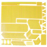 Lego 195x Genuine Technic Bright Yellow Studless Beams Liftarms Thins Bricks NEW