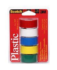 "3M 190T Scotch Waterproof Vinyl Plastic Colored Tape, .75"" x 125"""