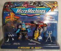 Mighty Morphin Power Rangers Micro Machines #3 Megazord Vs. Squatt
