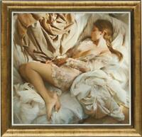 """Hand-painted Original Oil Painting art Portrait nude Girl on canvas 30""""x30"""""""