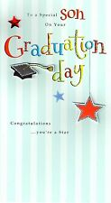 Congratulations Special Son Graduation Greeting Card Hand-Finished 3D Cards