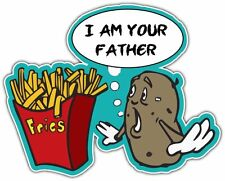 """I'm Your Father Potato French Fries Funny Car Bumper Vinyl Sticker Decal 5""""X4"""""""