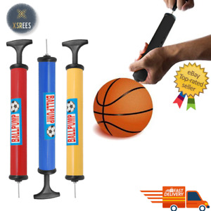 Football Pump Sports Ball Hand Pump With Inflating Needle Adaptor - Pump