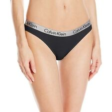 Calvin Klein Women's Underwear, CK Radiant Bikini Brief, Black, Low Rise Panty