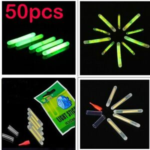 50 Pcs (10bags) Float Glow Stick Night Fishing Green Fluorescent Light