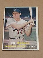 1957 Topps Gil Hodges Ex #80 Brooklyn Dodgers New York Mets HOF!!!