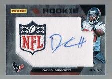 DAVIN MEGGETT #DM NFL Auto patch Rookie card 2012 National Convention Promo