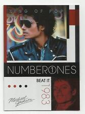 2011 Panini Michael Jackson King Of Pop Number Ones Platinum #182 (BEAT IT)