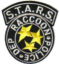 Resident Evil S.T.A.R.S. Raccoon Police Black Logo Embroidered Patch, NEW UNUSED