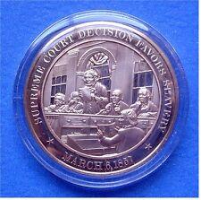 1857 Dread Scott Decision By Supreme Court - Solid Bronze Medal