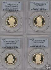 2007-S Proof $1 Presidential Dollar Set PCGS PR69DCAM