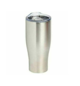 Stainless Steel Coffee Tumbler Silver 30 Ounces New Stays Hot or Cold BPA Free