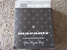 New listing Marantz Sd351 Sd451 Sd551 Stereo Cassette Original Service Repair Manual