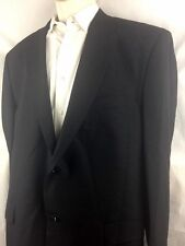 Giorgio Zillioni Made In Italy Soft Wool Men's Suite Black 44R Pants 32 In 46w
