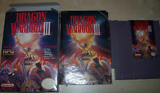 CIB Dragon Warrior III 3 Nintendo Entertainment System NES Complete Box Manual