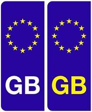 2 x gb euro number plate stickers eu european road legal voiture insigne vinyle