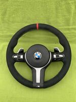 BMW F30 F31 F32 F36 F20 F21 F22 M SPORT ALCANTARA STEERING WHEEL Paddles Complet