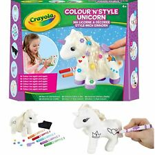 Crayola Colour n Style Unicorn Craft Kit Girls Wipe Clean Gifts Toys