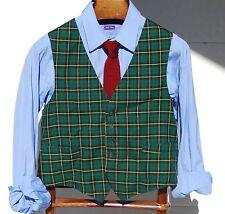 Richman Brothers M Vintage Gentleman's Green Check Waistcoat / Vest