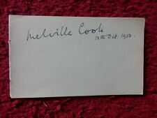 MELVILLE COOK - CONDUCTOR / COMPOSER AUTOGRAPH