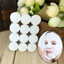 New Lady Accessories 12pcs Skin Care Compressed Paper Home DIY Facial Face Mask