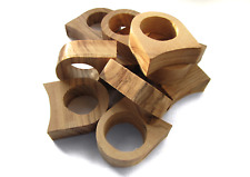 Olive wood ring blanks 10pcs, unfinished wooden rings, jewelry making supplies