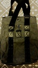 2dd506ef3d0 new  500 distressed leather canvas shoulder bag y saccs Yohji yamamoto 3D  japan