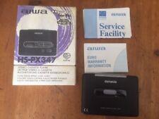 AIWA HS-PX347 lettore di cassette stereo completo in scatola completo e funzionante