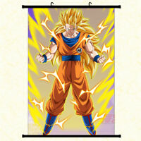 Anime Dragon Ball Z Goku Wall Scroll Poster Home Decor Art Cos Painting Gift #2