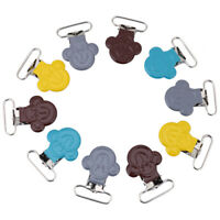 10Pcs/Lot 25mm Mini Monkey Shape Suspender Pacifiers Braces Clip Holders