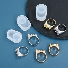 A21 SALE 30/% Medium silicone mold for resin rings 1 flower clear ring 2 ps size 9 white 2 size 7