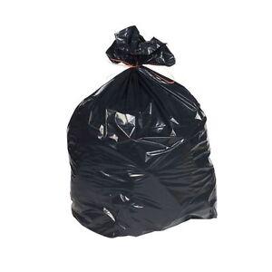 "HEAVY DUTY BLACK REFUSE SACKS BAGS BIN LINERS BAG RUBBISH 180Gauge 18x29x39"""