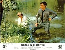 MAN FROM UNCLE HELICOPTER SPIES FULL SET OF 6 FRENCH PHOTOS ROBERT VAUGHN