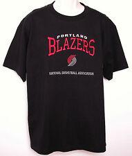 VTG Mens Portland TRAIL BLAZERS Embroidered T-SHIRT L Large 90's BASKETBALL NWT