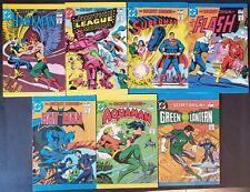 NEAR SET 7/8 1981 LEAF CANDY MINI COMIC BOOKS SUPERMAN BATMAN FLASH NRMT-MT