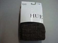 NWT Women's Hue Space Dyed Sweater Tights Size S/M Espresso #574E