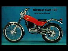 MONTESA COTA 172 OPERATIONS & PARTS MANUAL 100pg for Motorcycle Service & Repair