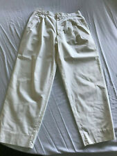 Vintage Gianni Versace White Pleated Pants Trousers