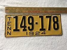 1924 Tennessee License plate 149-178 Re-Painted