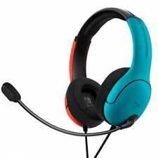 Nintendo Switch LVL40 Stereo Headset - Blue/Red, Wired NS Gaming Headphones
