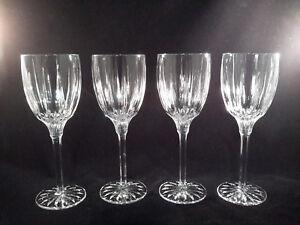 4 Gorham Crystal SUNDANCE Vertical Cut Wine Goblets Discontinued 1995-1999
